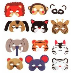 1 Dozen Masks - Jungle Animal Mask Assortment (1 dz) by Rhode Island Novelty. $35.12. Jungle Animal Mask Assortment (1 dz)Children love to pretend to be animals, especially with these Jungle Animal Masks. These masks are great for pretend play.Disclosure: Suggested age is 0 - 18 years Product may contain Small parts Not suitable for children under 3 yrs.