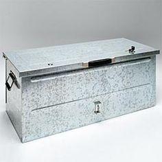 Galvanized steel storage chest