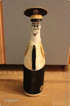 Декор предметов День рождения Моделирование конструирование Мои бутылочки проба пера Клей Кружево Ленты фото 3