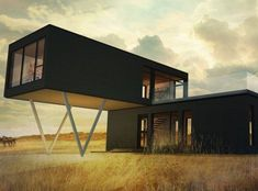 Container House - Maison neuve - Série Pur, modèle Pur-Z - Who Else Wants Simple Step-By-Step Plans To Design And Build A Container Home From Scratch? Container Office, Container Cabin, Container House Plans, Container Pool, Building A Container Home, Container Buildings, Shipping Container Home Designs, Shipping Containers, Prefab Homes