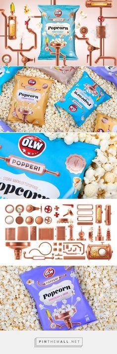 Olw Popperi popcorn packaging design by Identity Works - http://www.packagingoftheworld.com/2017/03/olw-popperi.html