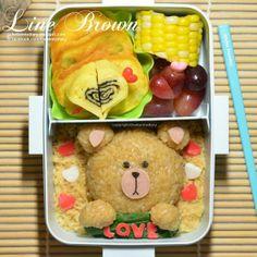 posted from @Karenwee's Bento Diary #linebrown #bear #kidsbento #obentoart #kwbentodiary #lunch #kawaii http://kwbentodiary.blogspot.com/2014/04/bento2014apr24line-brown-love.html?m=1 …