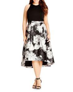 4c2d733eec6 City Chic Victoria Floral Print Dress Women - Plus - Dresses -  Bloomingdale s