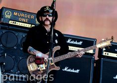 Lemmy Kilmister of Motorhead performs at the Barclaycard British Summer Time Festival in Hyde Park, London.