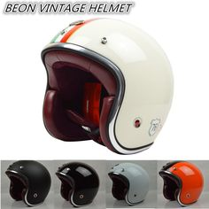 free shipping BEON casco capacetes Vintage motorcycle helmet inner pad with leather racing scooter retro helmets ECE M L XL