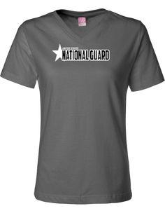 Montana Army National Guard Lat Ladies' Jersey V-neck   KART KONG