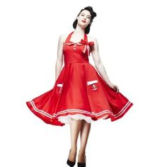 58bb9f9931 Hell Bunny - Motley Rouge - Robe Rockabilly Années 50 - Style Marin - L.  Isabella Moretti · Vintage Dresses