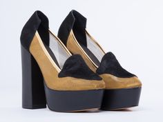 YES Time Travel in Black Pony Gold Mesh at Solestruck.com