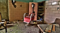 A medical chair lies abandoned in the corner of a room at the asylum, where treatment incl...