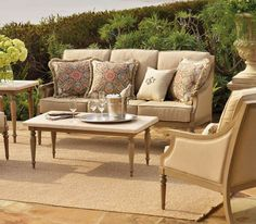 Make the time spent outdoors infinitely more inviting with Frontgate's Grace Seating Collection.