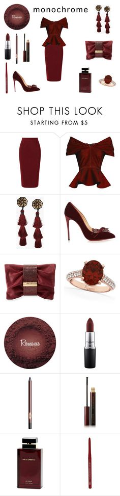 """Brick Red"" by rivmisty ❤ liked on Polyvore featuring Roland Mouret, Emilio De La Morena, Dsquared2, Christian Louboutin, Jimmy Choo, Allurez, MAC Cosmetics, Charlotte Tilbury, Kevyn Aucoin and Dolce&Gabbana"