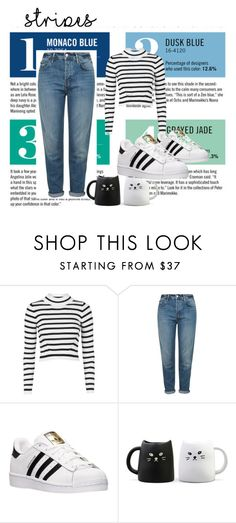 """stripes"" by lejla150 ❤ liked on Polyvore featuring Garance Doré, Topshop and adidas"
