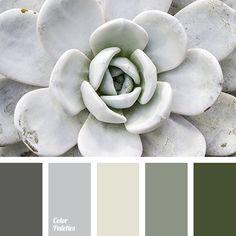 almost white color, color of concrete, color of stone, dark gray color, dark green color, dark khaki color, gray color, gray shades, green color, green shades, khaki color, light gray color, olive color, swamp color, white-gray color.