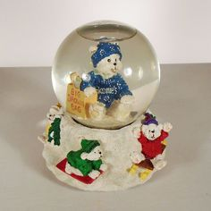 BLOOMINGDALES BIG BROWN BAG SNOW GLOBE - March of Dimes - MUSICAL ~ Dated 1995 • $12.99 • PicClick