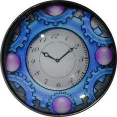 Crystal Dome Button Steam Punk 1 inch  Clock SP 01 FREE US SHIPPING