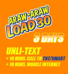 Talk N Text Tnt Al30 3 Days Unli Text 10 Mins Calls And Internet Promo Talk N Text Tnt Promos 2015 2016 Text Day Talk