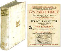 Ius Parochiale. ad Fundamenta Genuina Revocatum a Spuriis.. | Justus Henning Bohmer