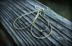 brass and smoke | recycled guitar string earrings