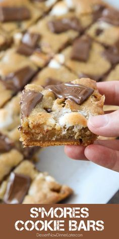 13 Desserts, Cookie Desserts, Delicious Desserts, Dessert Recipes, S Mores Cookies, Cookie Brownie Bars, Desserts For A Crowd, Bar Cookies, Yummy Food