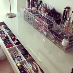 Makeup storage, drawers and clear storage