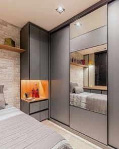 45 Creative Bedroom Wardrobe Design Ideas That Inspire On Like everything else in life, there are those who were born to plan out bedrooms and those who would rather … Contemporary Bedroom, Modern Bedroom, Bedroom Simple, Trendy Bedroom, Small Bedroom Storage, Small Storage, Storage Room, Bedroom Layouts, Bedroom Ideas