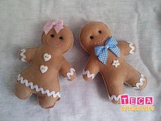 Resultado de imagem para biscoito natal gengibre feltro