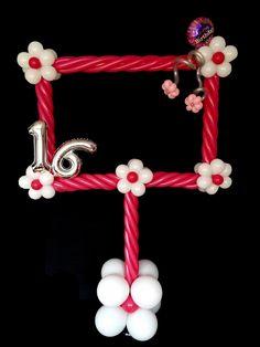 Balloon Photo Booth Frames  #birthday# #balloon #photobooth #twisting #photoframe