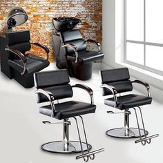 1000 images about modern salon barbershop equipment on for Hairdressing furniture packages