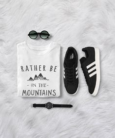 Rather be in the mountains • Sweatshirt • Clothes Casual Outift for • teens • movies • girls • women • summer • fall • spring • winter • outfit ideas • hipster • dates • school • parties • Tumblr Teen Fashion Graphic Tee Shirt