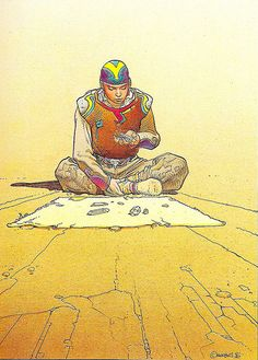 A tribute in form of a collection. All artwork by Jean Giraud aka Moebius. Arte Sci Fi, Sci Fi Art, Jean Giraud Moebius, Illustrations, Illustration Art, Ligne Claire, Bd Comics, Science Fiction Art, Art Graphique