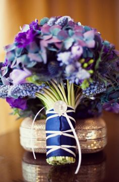 Blue and Purple reception wedding flowers, wedding decor, wedding flower centerpiece, wedding flower arrangement, add pic source on comment and we will update it. www.myfloweraffair.com can create this beautiful wedding flower look.