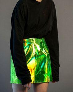 #skirt #nylon #green