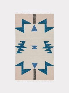 Kelim Rug - Blue Triangles from Sunday Supply Co.