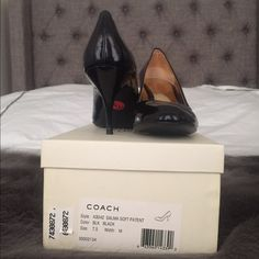 Coach Salma BLK Patent pump 7.5 NIB Classic, timeless elegant pump. Super comfy patent leather. These are a staple for anyone's wardrobe. Purchased in Lord and Taylor on sale for $119.99 a while ago and never worn. Bought CL in black patent and figured I don't need 2 basic patent pumps in my closet. Coach Shoes Heels