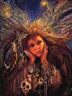 """Fairies Treasure"" by Josephine Wall ... fairies love trinkets & treasures... :)"