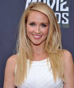 Anna Camp Hairstyle - Casual Long Straight Hairstyle. Click on the image to try on this hairstyle and view styling steps!