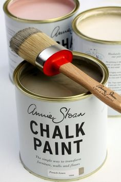 Just bought some of this paint in Sutton's Bay, MI.  Can't wait to try it on an old table.  Annie Sloan chalk paint & the best paint brushes