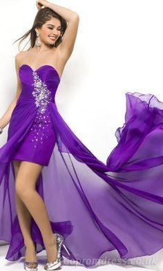purple prom dress (like it more if it was longer) High Low Prom Dresses cf275e951a62