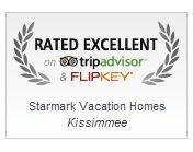 Yea! We have been Rated Excellent by Tripadvisor and Flipkey! Check out why our vacation rentals in Orlando are so great! www.starmarkvacationhomes.com