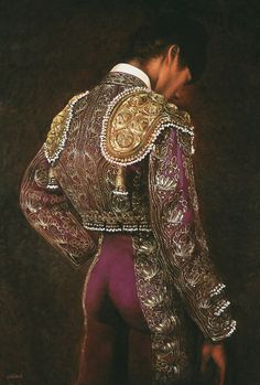Christian Gaillard - He is a Frenchman who paints the Spanish bullfighters, portraits of the greatest matadors of our time.  As he said, he is fascinated by the elegant figure of a bullfighter, their loneliness and fear control before the fight. He concentrates on the hyper-realistic paintings of their gorgeous costumes.