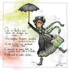 Fashion and Lifestyle Image Positive, Positive Attitude, Graphic Design Illustration, Illustration Art, Merry Poppins, Watercolor Cards, Illustrations, Making Ideas, Coloring Pages