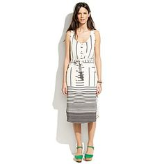 fun striped dress madewell $129.99 - but not in my size. good. saved $129.99