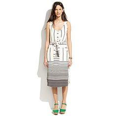 Madewell Striped Parklane Dress