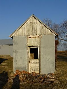 Old farm in Central Illinois - the ice house, one of the oldest buildings on the farm, sits on the south side of the property.
