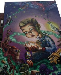 I love this retro 40's style! .... . #streetart #graffiti