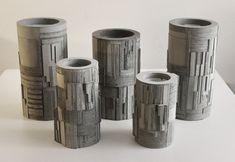 David Umemoto - Brutalist Concrete Vases