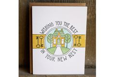 Wishing You The Best In Your New Nest Letterpressed Notecard