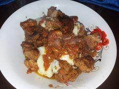 Χοιρινο στο φουρνο αλλιως πεντανοστιμο θα γλυφετε τα δάχτυλά σας.. ~ igastronomie.gr Greek Recipes, Meat, Chicken, Food, Meals, Yemek, Buffalo Chicken, Eten, Rooster