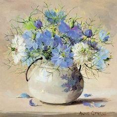Love-in-a-Mist - Birthday Card | Mill House Fine Art – Publishers of Anne Cotterill Flower Art