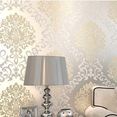 glitter wallpaper for walls on sale at reasonable prices, buy europe damask classical designs glitter wallpaper for wall in bedroom papel de parede moderno from mobile site on Aliexpress Now! Glitter Wallpaper Bedroom, Wallpaper Stencil, Wallpaper Decor, Home Wallpaper, Wallpaper For Walls, Summer Wallpaper, Bedroom Decor, Wall Decor, Wall Design